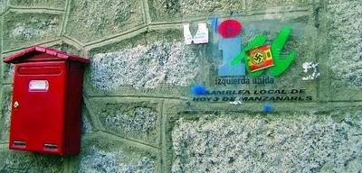 La sede de Izquierda Unida en Hoyo ha sido atacada en varias ocasiones
