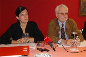 Magoga Piñas e Ignacio Rosales, en rueda de prensa / E. P.