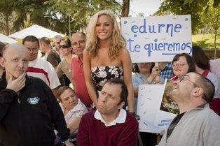 Edurne, en el acto celebrado en Peñalba
