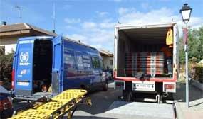 El SAMUR retira el material robado del almacén de Protección Civil