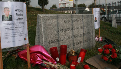 Homenaje a Antonio Molina  10 años después de su asesinato