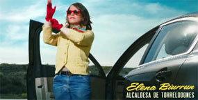 Elena Biurrun, presentada en una campaña de publicidad como una 'política extraordinaria'