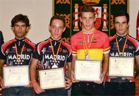 Reconocimiento a los jóvenes ciclistas que  lograron medalla en el Campeonato de España
