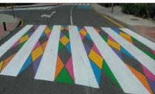 AcTÚa cuestiona que se pinten de colores los pasos de cebra