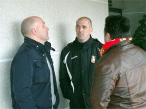 Nacho Benito dialogando con David Gordo