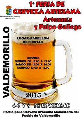 Valdemorillo acoge la I Feria de Cerveza Artesanal Gallega