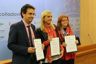 El Ayuntamiento, Apascovi y el CUC Villalba firman un convenio de colaboración