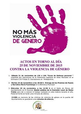 El Escorial conmemorará el Día Internacional contra la Violencia de Género con diversas actividades