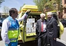 El 112 dona 700 raciones de alimentos a Mensajeros de La Paz