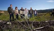 Visita del consejero de Medio Ambiente a Valquemada para supervisar las labores de reforestación