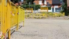 Las tareas de replanteo dan inicio a las obras del nuevo parque infantil de El Toril