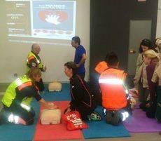 Protección Civil de Collado Villalba imparte formación básica en reanimación cardiopulmonar