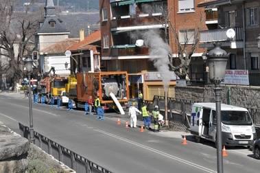 Obras en Guadarrama para rehabilitar calles y aceras en el casco urbano