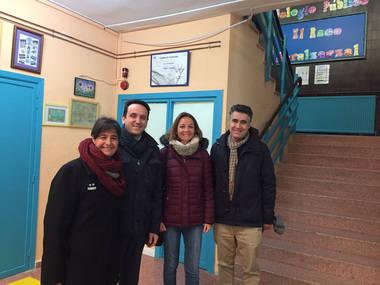 La portavoz de Ciudadanos en la Asamblea de Madrid visita el CEIP 'El Raso' de Moralzarzal