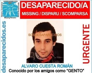 En la tarde del sábado fue localizado sin vida el cuerpo de Álvaro, el joven desaparecido en Collado Villalba