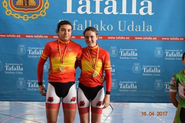 La ciclista de Valdemorillo Adriana San Román se proclamó Campeona de España en pista (velocidad por equipos)