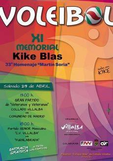 """Este sábado se celebra en Collado Villalba el """"XI Memorial de Voleibol Quique Blas"""""""