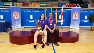 La deportista de San Lorenzo de El Escorial, Paula López, doble campeona de España en el europeo de Bádminton
