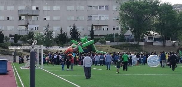 Un hinchable volcó en el inicio de las Olimpiadas Escolares de Collado Villalba