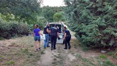 La Policía Local de Moralzarzal rescata un corzo herido