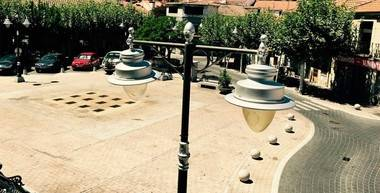 Problemas con las obras de instalación del nuevo alumbrado LED en las calles de Moralzarzal
