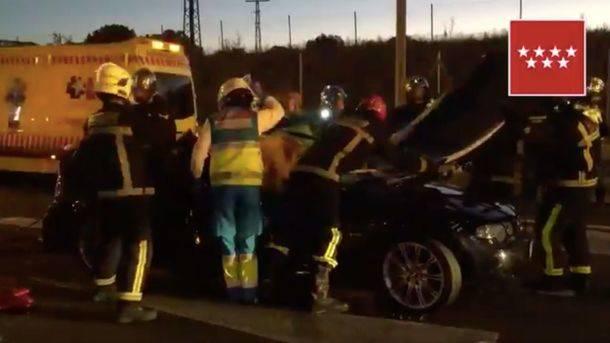 Cuatro heridos en un accidente en la M-607 provocado por un vehículo que iba en sentido contrario