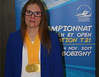 La galapagueña Martínez de la Riva consigue cinco oros en el Campeonato de Europa de Natación para atletas con síndrome de Down