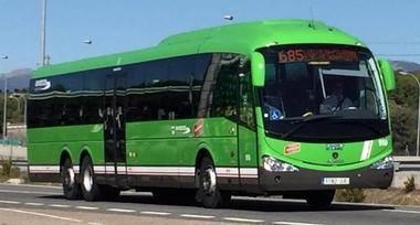Collado Mediano instalará aseos para los conductores de los autobuses de Larrea.