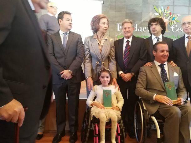 Iraide Rodríguez recibe el 'Premio Superación' de manos de la Reina Sofía