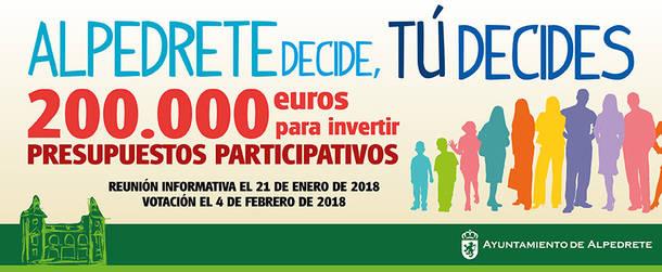 Alpedrete reserva 200.000 euros para los primeros presupuestos participativos