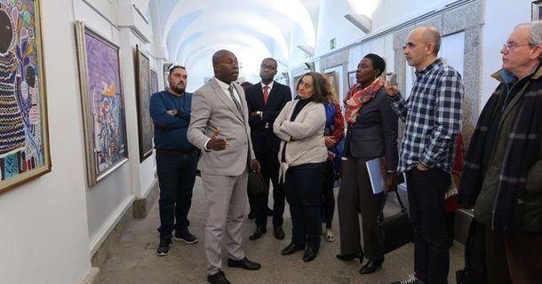 """Inaugurada en San Lorenzo de El Escorial la exposición """"El arte haitiano"""", con la presencia de cuatro ministros de dicho país"""