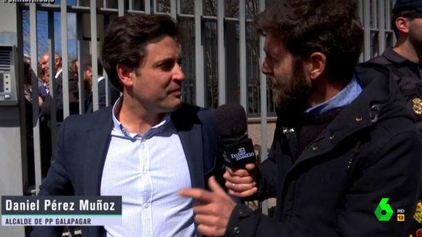 El alcalde de Galapagar afirma en la Sexta que realizó el mismo máster que Cristina Cifuentes pero se negó a hacer declaraciones
