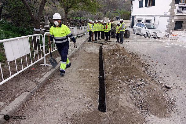 Comenzaron las obras para la distribución del gas natural en Cercedilla
