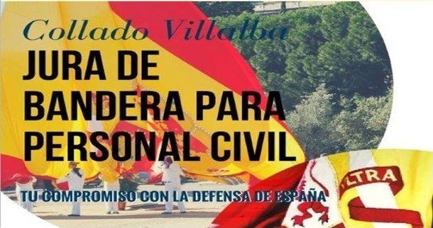 Se amplía al 25 de mayo la inscripción para la 'Jura de Bandera' para personal civil en Collado Villalba