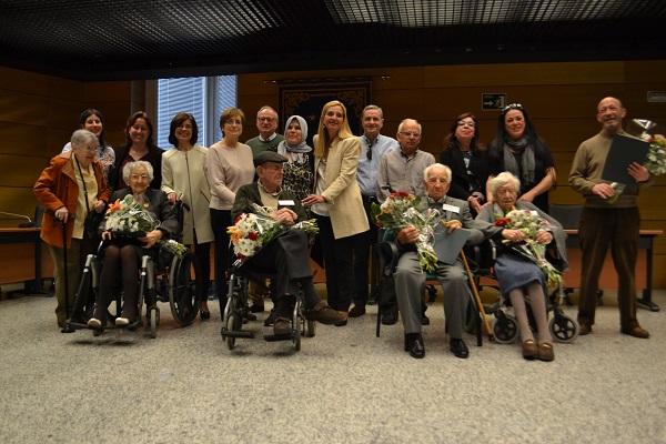 Vecinos de Collado Villalba con más de 100 años de edad recibieron un homenaje del Ayuntamiento