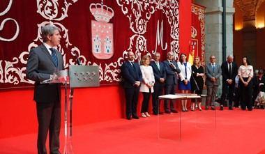 Ángel Garrido destaca el talante y el compromiso del nuevo Gobierno de la Comunidad de Madrid