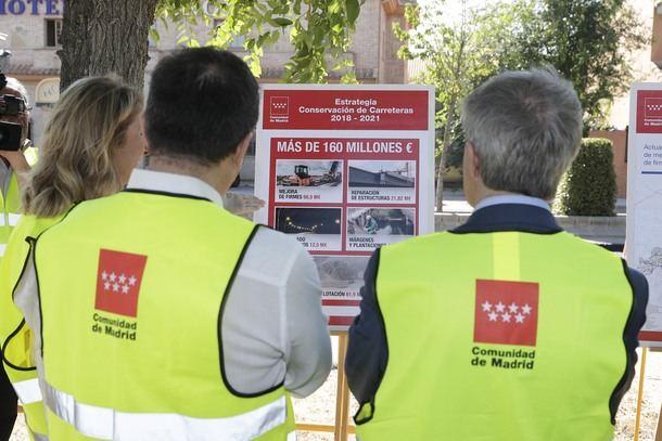 La Comunidad de Madrid invierte 162 millones de euros para la mejora y conservación de las carreteras madrileñas
