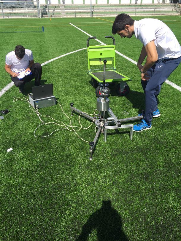 Homologación del campo de fútbol de El Escorial