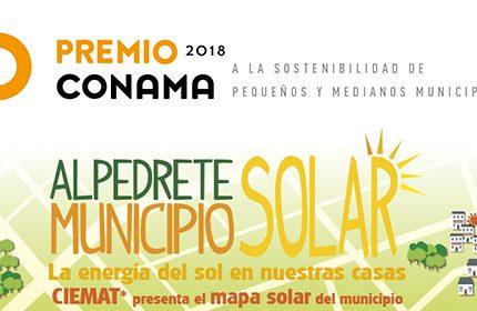 El mapa solar de Alpedrete, 'Premio Conama' 2018