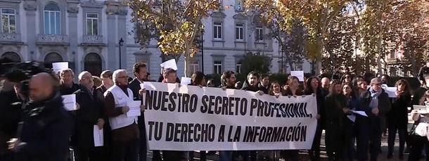 Los periodistas de Madrid defendieron el secreto profesional ante el Tribunal Supremo