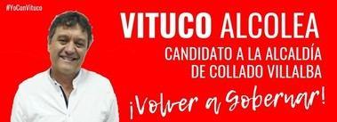 Vituco Alcolea (PSOE) ya es candidato oficial a la alcaldía de Collado Villalba