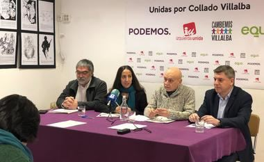 Podemos, IU, Cambiemos Villalba y Equo concurrirán juntas a las elecciones municipales de Collado Villalba
