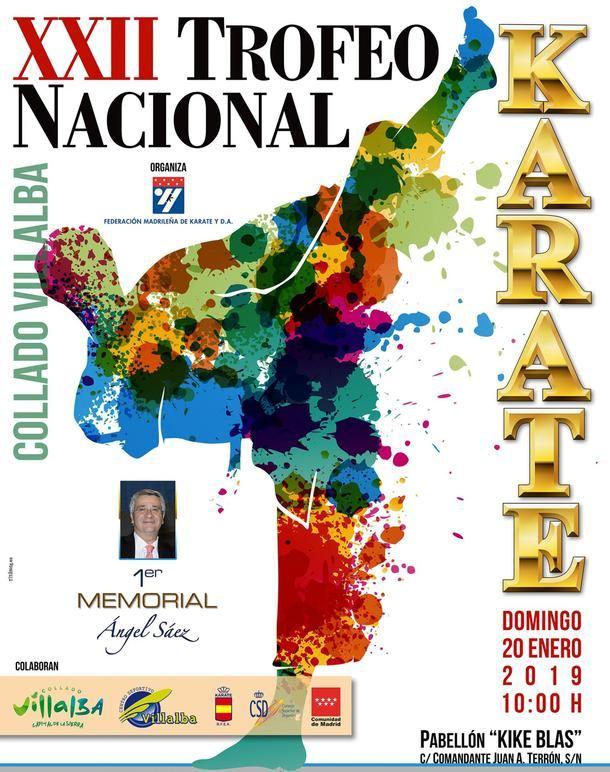 Collado Villalba celebra el domingo el XXII Trofeo Nacional de Kárate 'I Memorial Ángel Sáez'