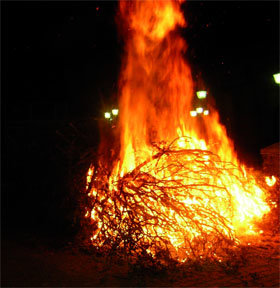 Collado Villalba celebra este domingo la tradicional luminaria de San Sebastián
