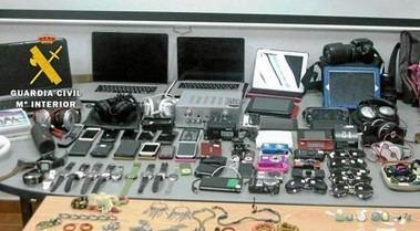 Objetos robados y recuperados por la Guardia Civil podrán identificarse en el salón de plenos del Ayuntamiento de Guadarrama