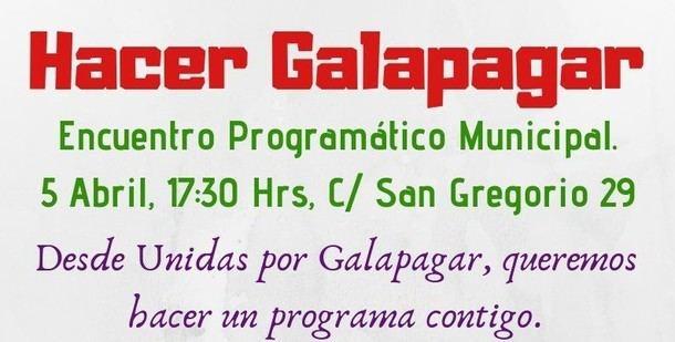 Hoy se celebra el encuentro programático 'Hacer Galapagar' promovido por 'Unidas por Galapagar