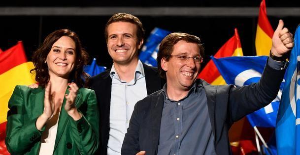 El PP se impone en los municipios madrileños con 762 escaños seguido del PSOE con 641, Cs con 257 mientras VOX asciende a 140