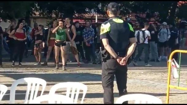 Radicales intentan boicotear un acto de VOX en Collado Villalba