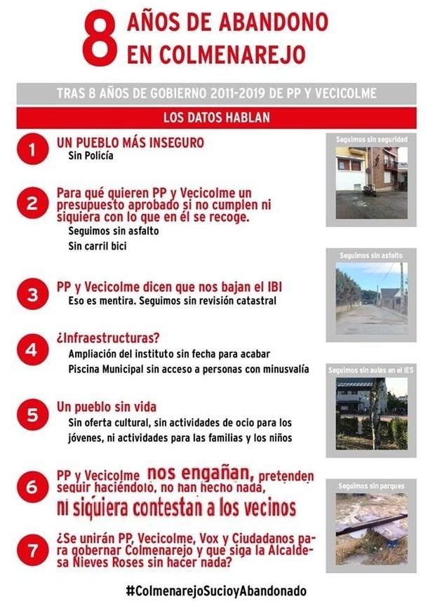 Polémico pacto de gobierno en el Ayuntamiento de Colmenarejo y críticas a PSOE y Vecicolme
