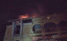 Incendio en el Palacio Canto del Pico de Torrelodones